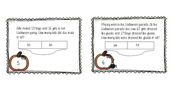 Halloween Addition and Subtraction Scoot (Bar Models)
