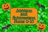 Halloween Addition and Subtraction (SmartBoard Lesson)