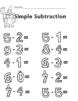 halloween addition and subtraction worksheets by stephanie leitner halloween addition and subtraction worksheets