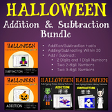 Addition And Subtraction Worksheets Halloween Math Coloring Sheets