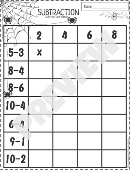 halloween addition and subtraction worksheets by km classroom  tpt halloween addition and subtraction worksheets