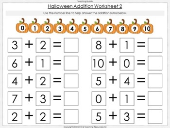 Halloween Addition Within 10