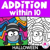 Halloween Addition to 10 Color by Number | Addition to 10