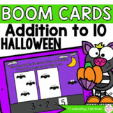 Halloween Addition to 10 Math Centers   Digital Game Boom Cards