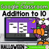 Halloween Addition to 10 Math Centers for Google Classroom