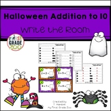 Halloween Addition to 10 - Write the Room