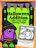 Halloween Additon Math Color Code