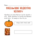 Halloween Adjective Activity