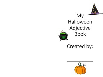 Halloween Adjective Book