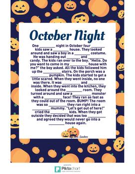 Halloween Adjective Mad Lib