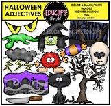 Halloween Adjectives Clip Art Bundle {Educlips Clipart}