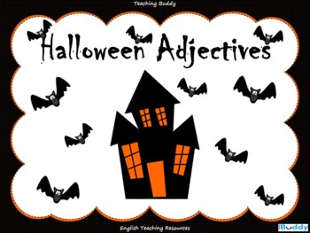 Halloween Adjectives (PowerPoint and worksheets)