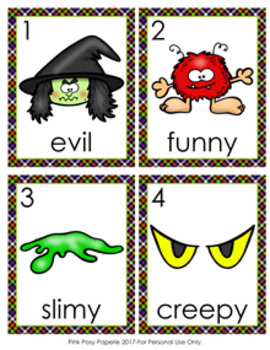 Halloween Adjectives Write The Room Activity