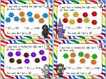 Halloween AfterMATH - Math Task Cards - English Version