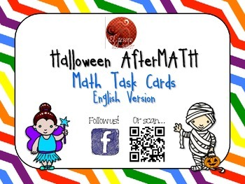 Halloween AfterMATH - Math Task Cards - English Version