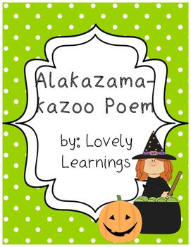 Halloween Alakazamakazoo Poem