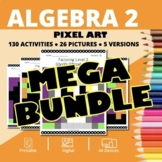 Halloween Algebra 2 BUNDLE: Math Pixel Art