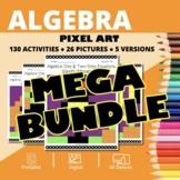 Halloween Algebra BUNDLE: Math Pixel Art