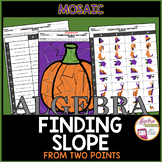 Halloween Algebra Finding Slope from Two Points Mosaic