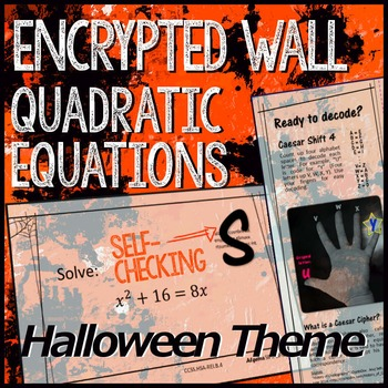 Halloween Algebra – Quadratic Equations