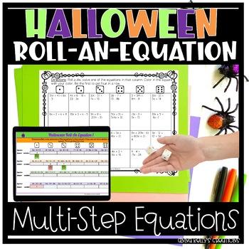 Halloween Algebra Roll-an-equation
