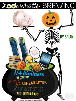Halloween All About Me iPad Poster Project