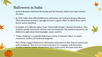 Halloween, All Saints Day, and All Souls Day in Italy