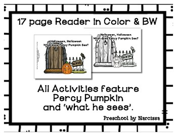 Halloween Preschool Alliteration Theme Unit - Percy Pumpkin - Lots of Fun