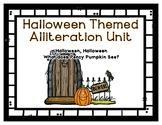 Halloween Preschool Alliteration Theme Unit - Percy Pumpki