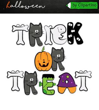 Halloween Alphabet Clipart by Clipartino | Teachers Pay ...