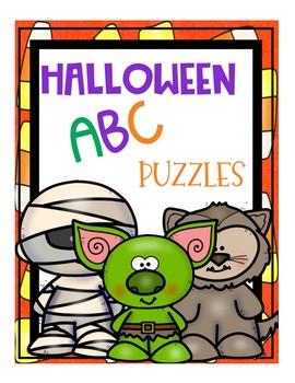 Halloween Alphabet (ABCs) Puzzles for Preschool and Toddler Fun