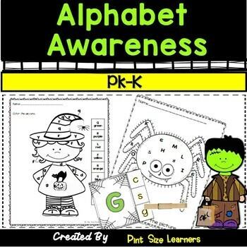Halloween  Alphabet Awareness Center Activities