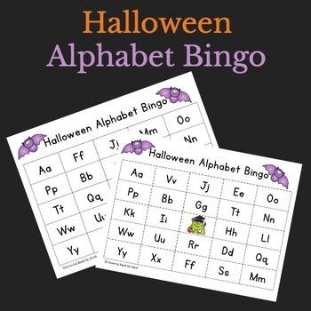 Halloween Alphabet Bingo