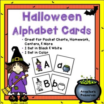 Halloween Activities: Alphabet Cards