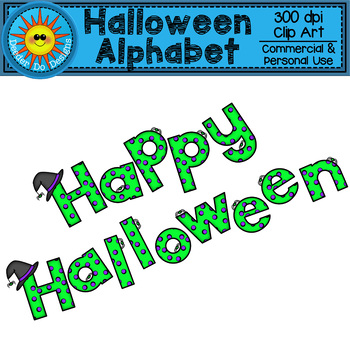 Halloween Alphabet Clip Art