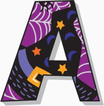 "Halloween Alphabet! Clipart 3.5"" 300 DPI  Vector PDF, PNG, JPG, SVGs"