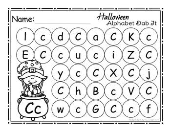 Halloween Alphabet Dab It Worksheets