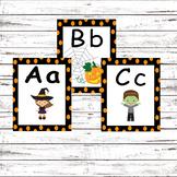 Halloween Alphabet Flash Cards
