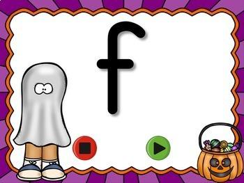 Halloween Alphabet Flash Cards Set - Lowercase Letters