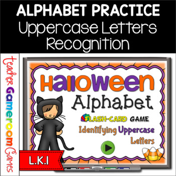 Halloween Alphabet Flash Cards Set - Uppercase Letters