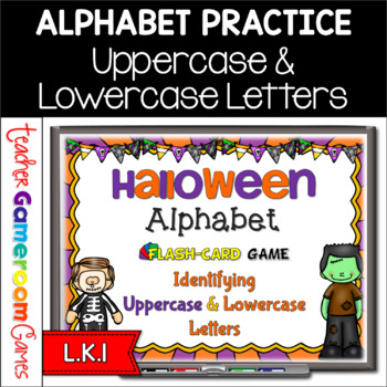 Halloween Alphabet Flash Cards Set - Uppercase and Lowerca