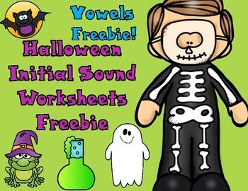 Halloween Alphabet Freebie:  Vowels A, E, I, O, U