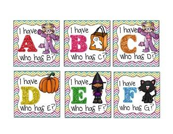 Halloween Alphabet Games
