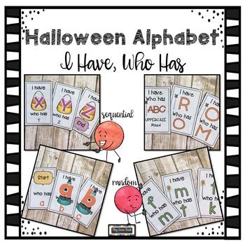 Halloween Alphabet I Have Who Has - 4 Sets