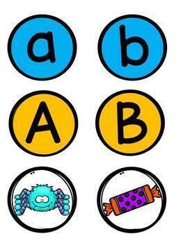 Halloween Alphabet- Lowercase Uppercase Sorting/Alphabet- Majuscule et minuscule