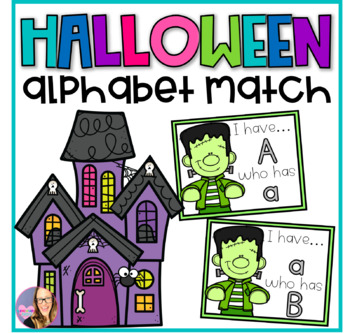 Frankenstein Halloween Alphabet Match