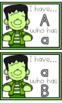 Frankenstein Halloween Alphabet Match