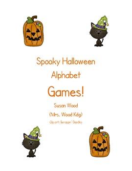 Halloween Alphabet Match Games