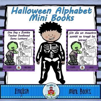 Halloween Alphabet Mini Books Bilingual Bundle