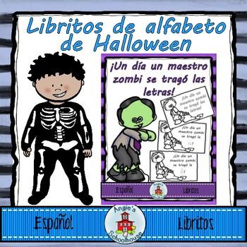 Halloween Alphabet Mini Books in Spanish